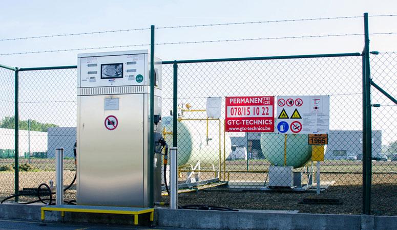 Maco-Gas automatische afvulinstallatie