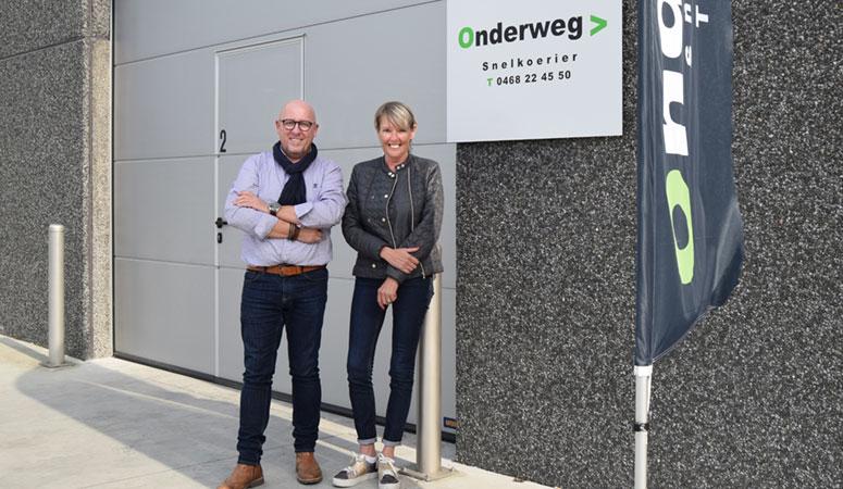 Mark Bruylandt en Cindy Vanden Berghe van koerierdienst Onderweg